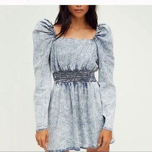 Free people Molly mini denim dress  NWT